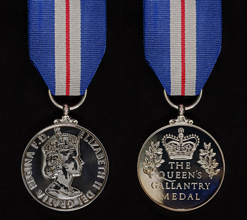 Queen's Gallantry Medal (Rank 32)
